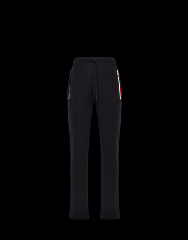 CASUAL TROUSER Black Category JERSEY PANTS Man