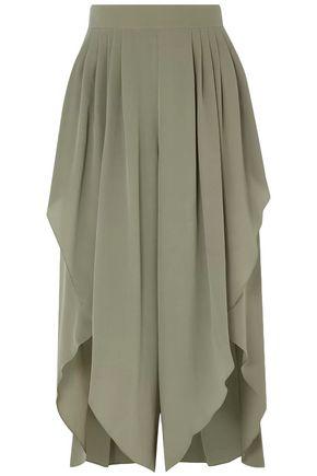 CHLOÉ Draped silk crepe de chine culottes