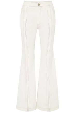 CHLOÉ Split-front high-rise flared jeans