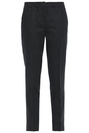 BA&SH Mélange brushed wool-blend slim-leg pants