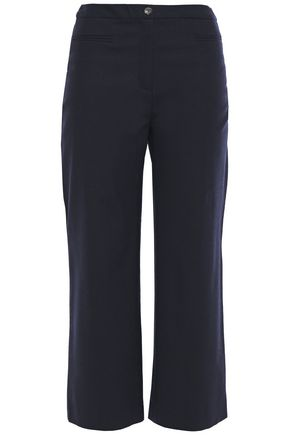 BA&SH Cropped wool-blend straight-leg pants