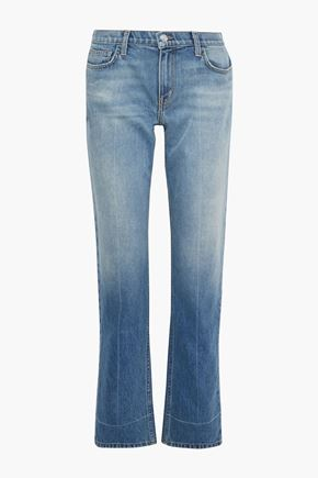 CURRENT/ELLIOTT The Poker faded mid-rise straight-leg jeans