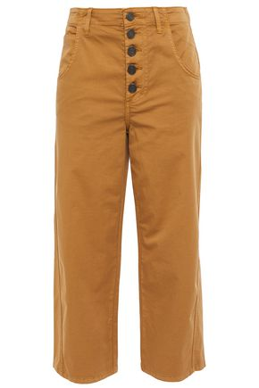 JOIE Cassedy cropped cotton-twill straight-leg pants