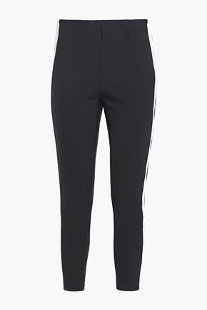 RAG & BONE Two-tone cotton-blend slim-leg pants