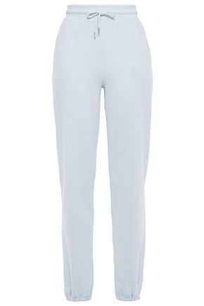 NINETY PERCENT Mélange French cotton-terry track pants