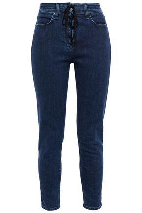 RAG & BONE Nina cropped lace-up high-rise skinny jeans