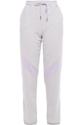 NINETY PERCENT Striped mélange French cotton-terry track pants