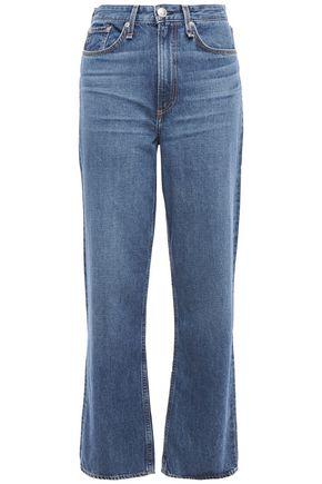 RAG & BONE Ruth faded high-rise straight-leg jeans