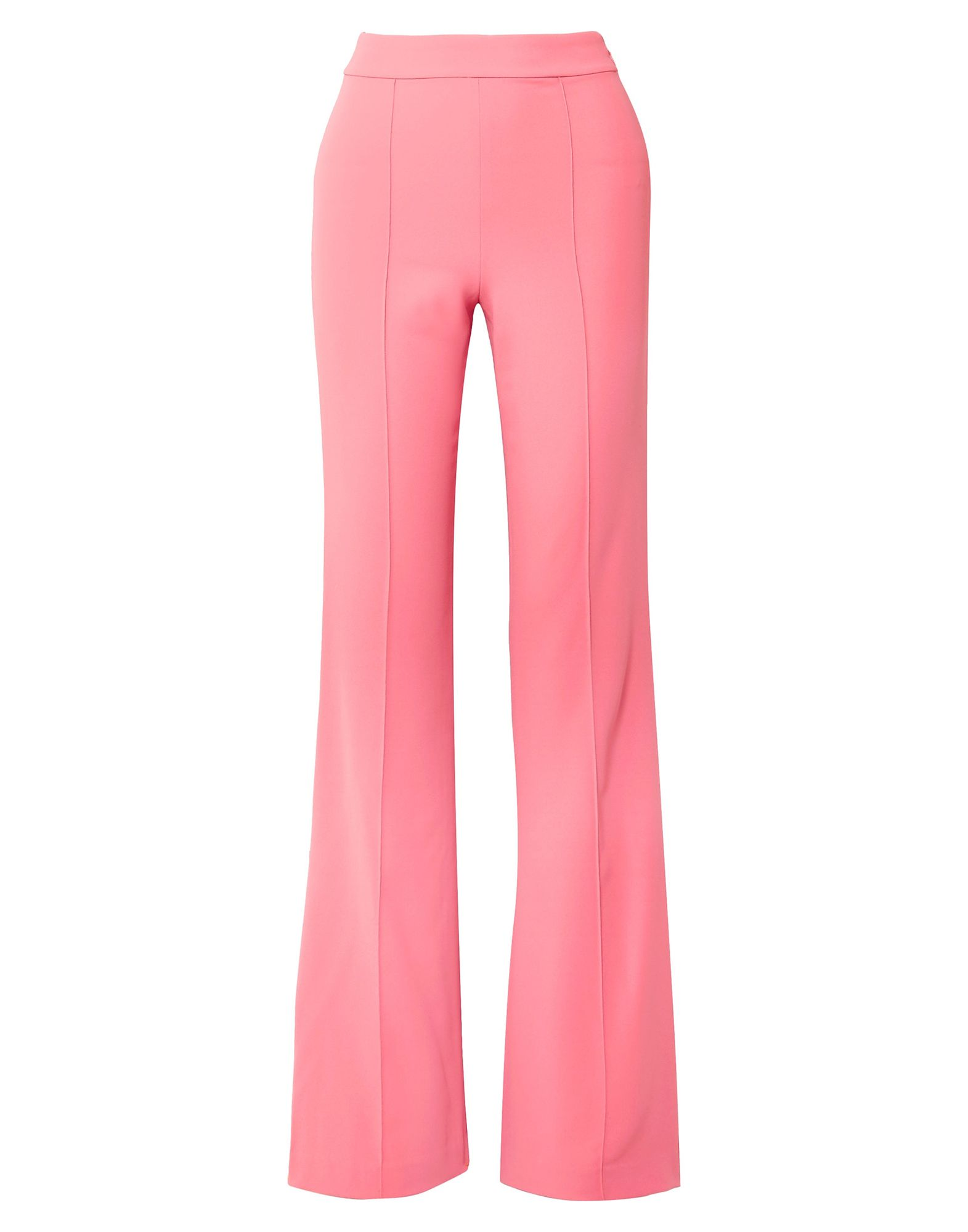 ALICE + OLIVIA Casual pants. crepe, no appliqués, basic solid color, high waisted, regular fit, flare & wide-leg, zip, no pockets. 100% Polyester