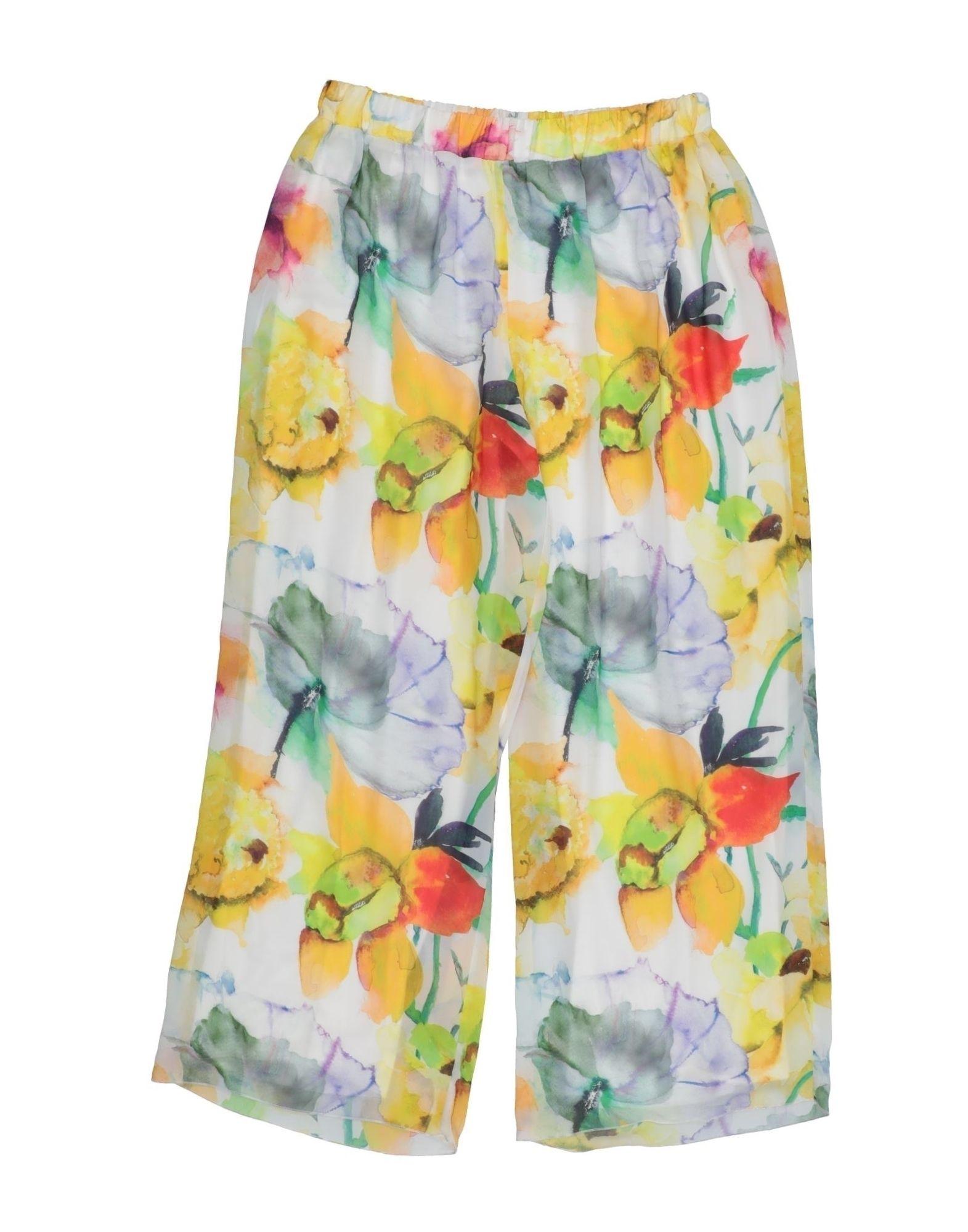 Loredana Prima Kids' Casual Pants In Yellow