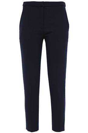 SANDRO Andy cropped twill skinny-leg pants