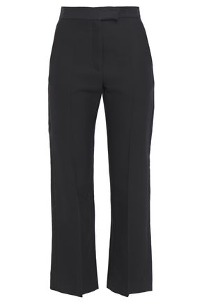 SANDRO Efie cotton-blend twill bootcut pants