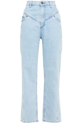 SANDRO Cropped high-rise slim-leg jeans