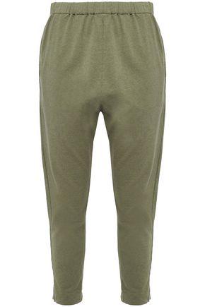 BASSIKE Organic mélange cotton-jersey track pants
