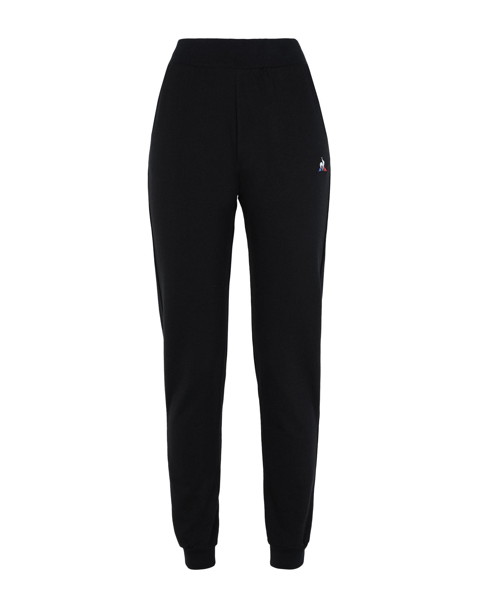 《セール開催中》LE COQ SPORTIF レディース パンツ ブラック L コットン 100% ESS Pant Regular N°1 W