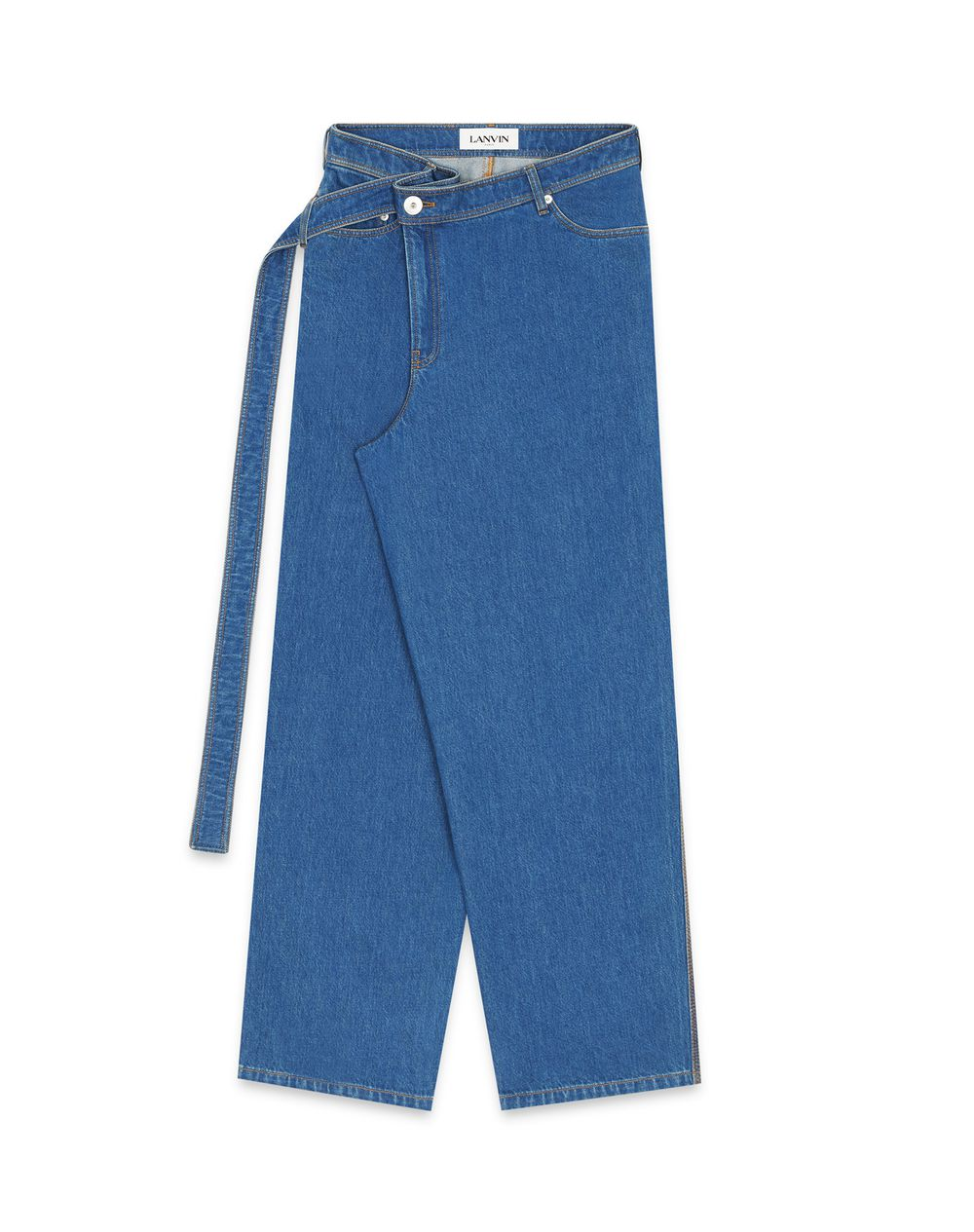 LARGE BEALTED DENIM PANTS - Lanvin