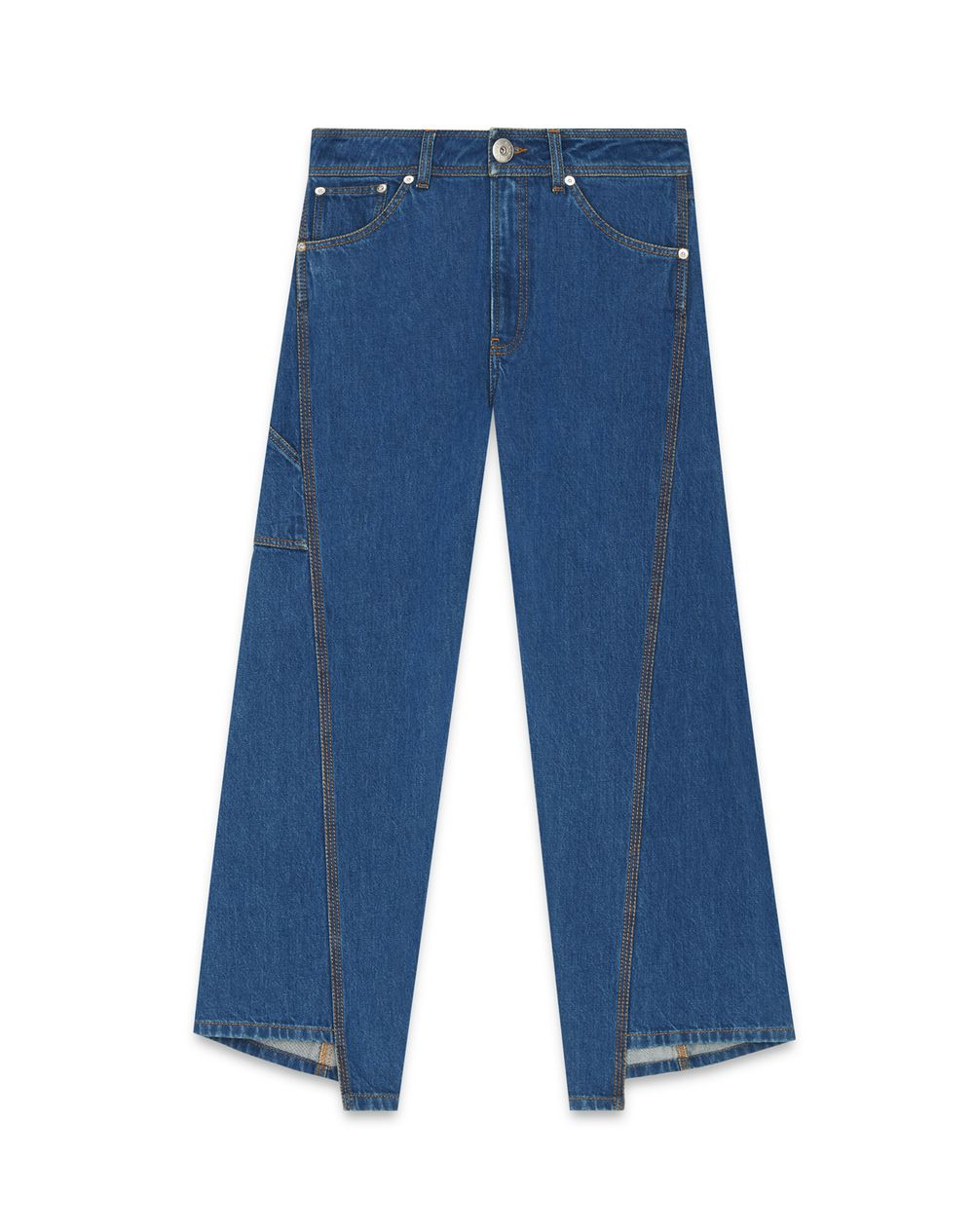 TWISTED STITCHES 7/8 DENIM PANTS - Lanvin