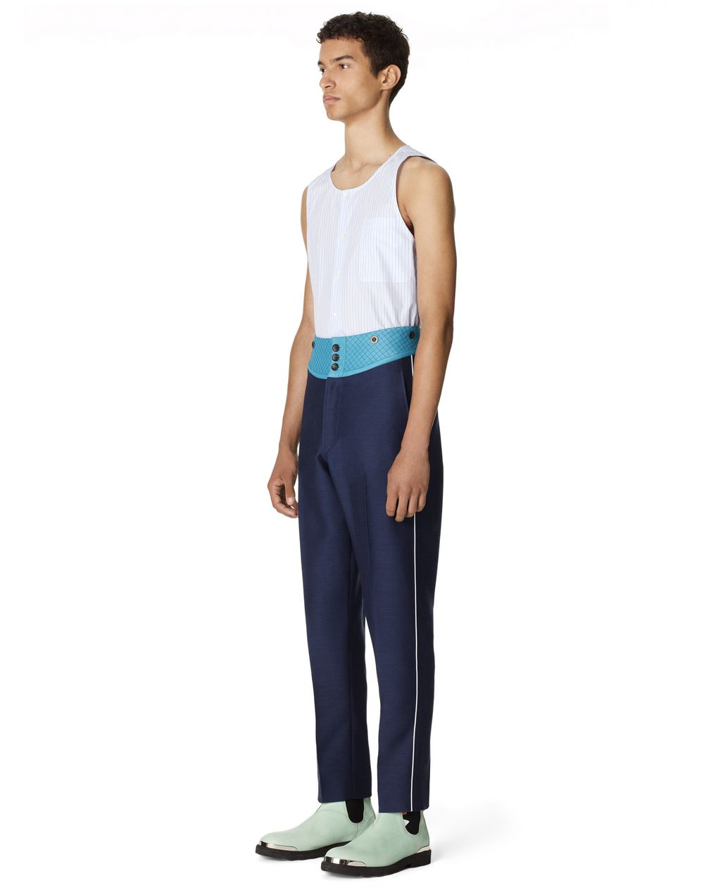 PANTS WITH QUILTED BELT - Lanvin