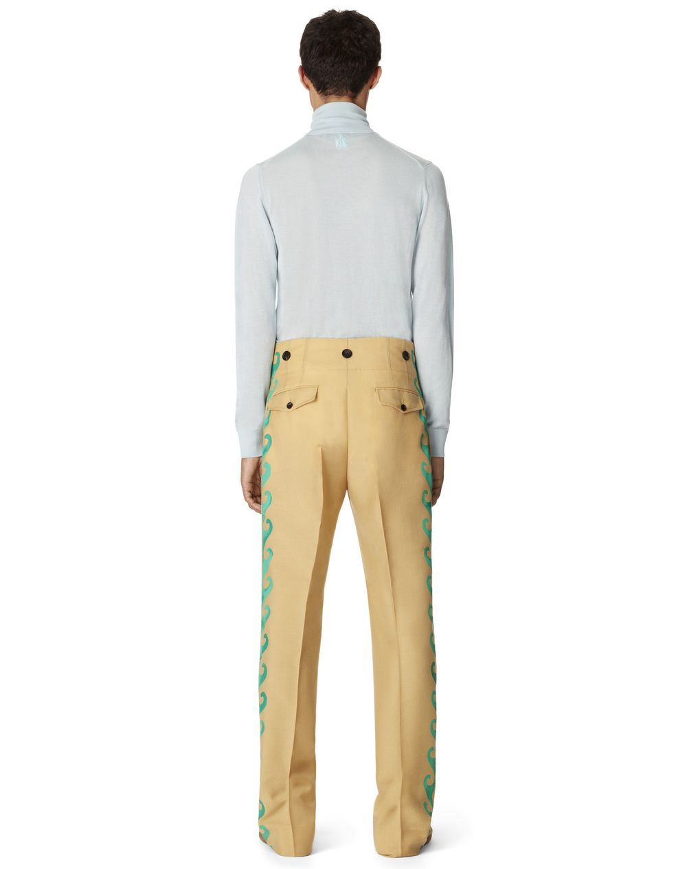 WOOL AND MOHAIR PANTS - Lanvin
