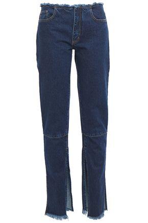 MARQUES' ALMEIDA Frayed mid-rise slim-leg jeans