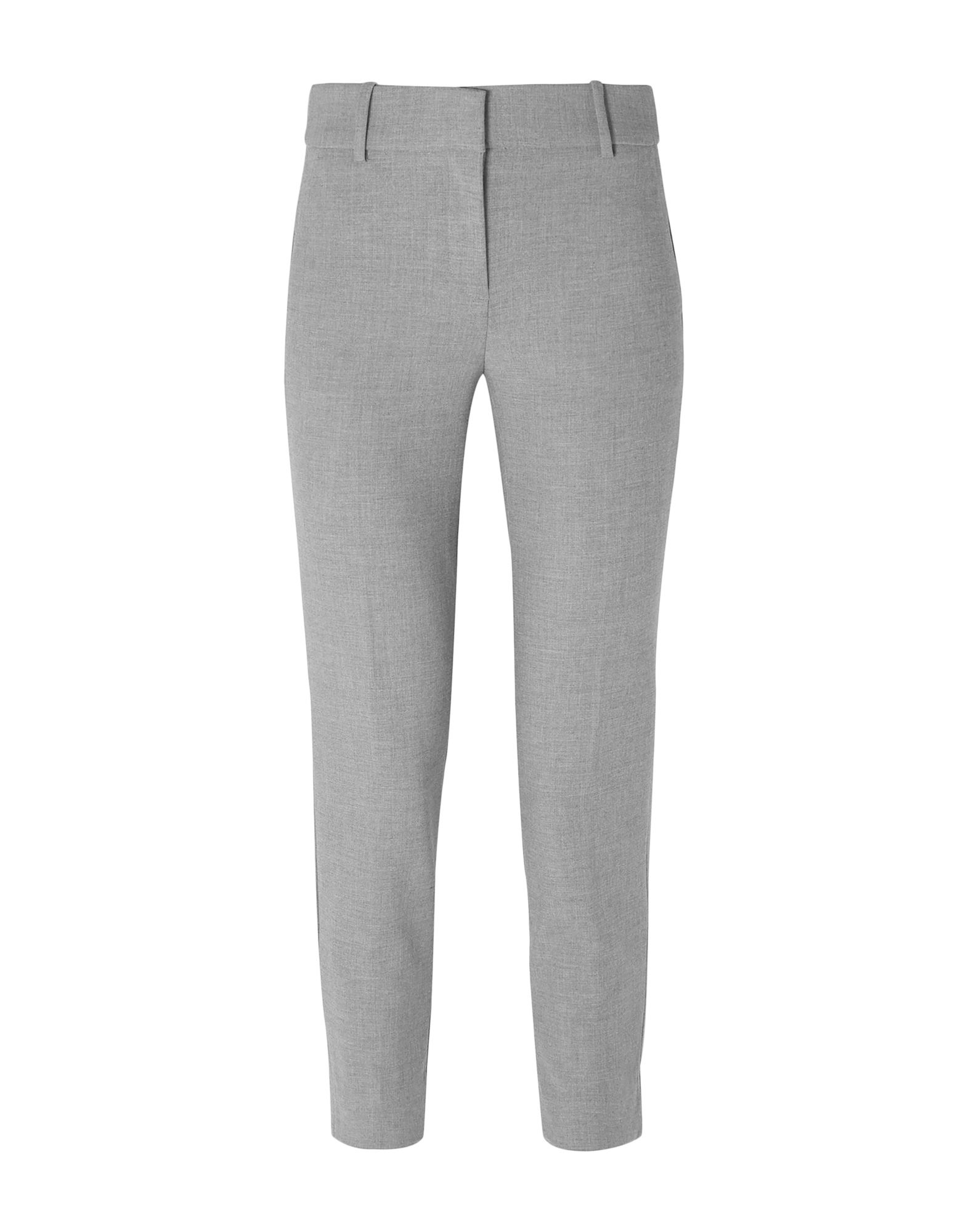 J.CREW Casual pants. crepe, no appliqués, basic solid color, mid rise, regular fit, tapered leg, hook-and-bar, zip, multipockets, stretch. 64% Polyester, 31% Viscose, 5% Elastane