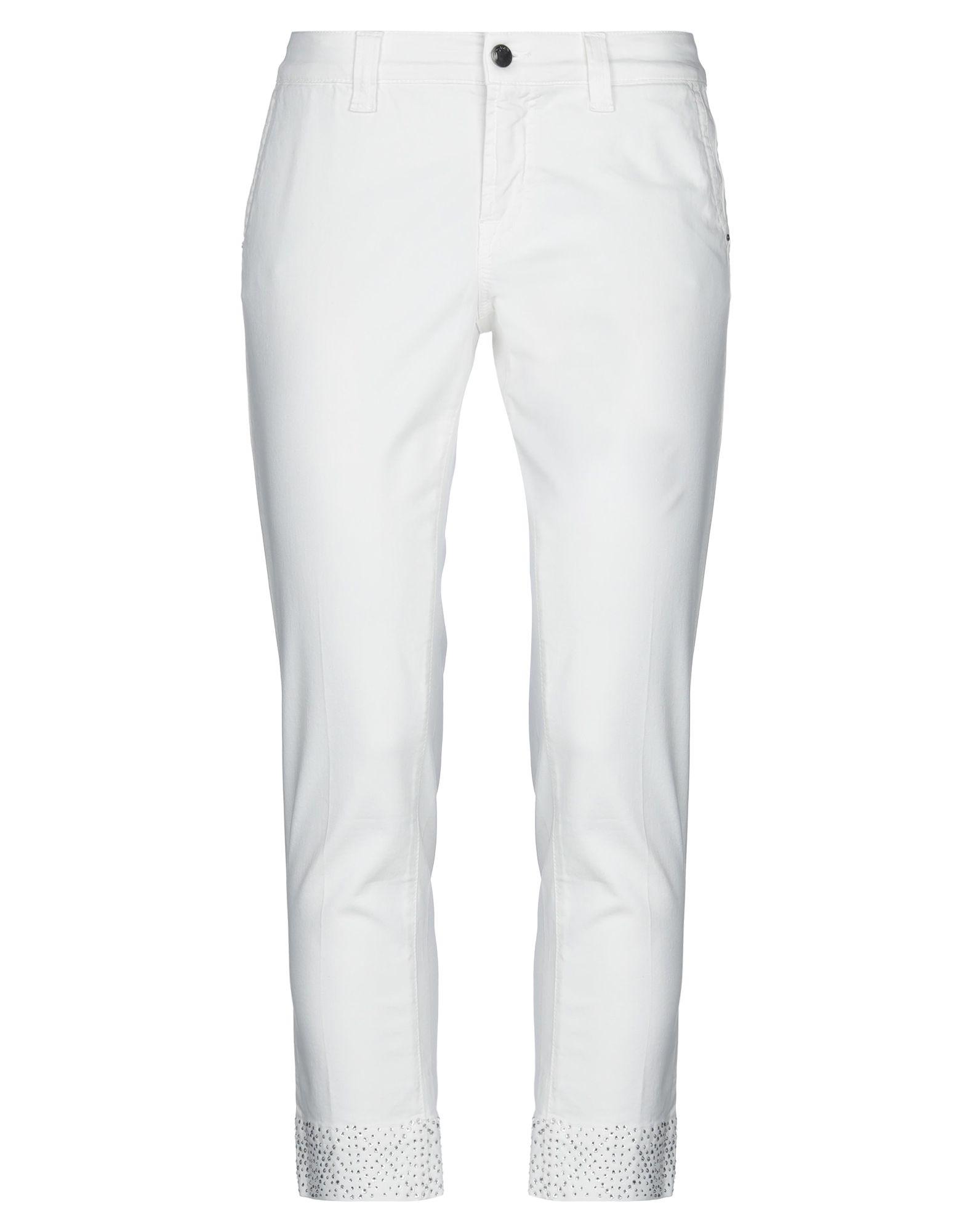 《セール開催中》S.O.S. by ORZA STUDIO レディース パンツ ホワイト 30 コットン 98% / ポリウレタン? 2%