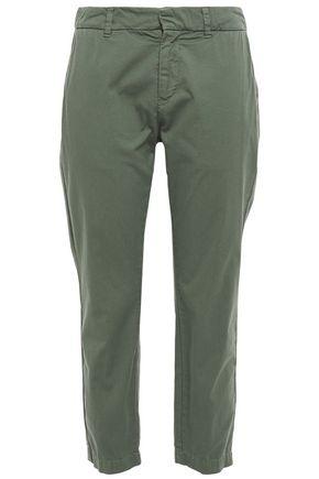 NILI LOTAN Tel Aviv cropped cotton-blend twill tapered pants