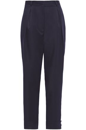 TIBI Cropped twill tapered pants