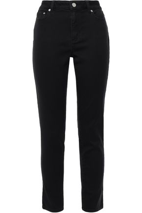 MICHAEL MICHAEL KORS Cropped high-rise slim-leg jeans