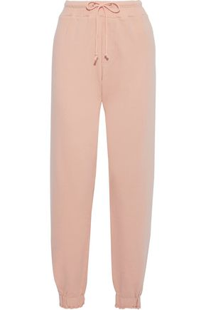 CURRENT/ELLIOTT The Roxwell French cotton-terry track pants