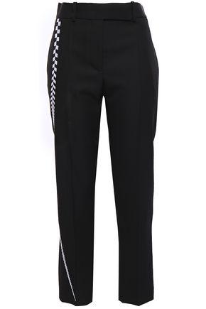 HAIDER ACKERMANN Cropped embroidered wool-cady slim-leg pants