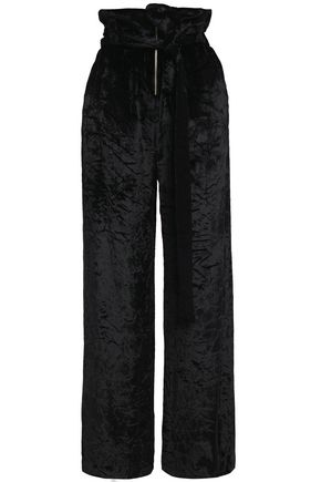 PROENZA SCHOULER Belted crushed velvet wide-leg pants