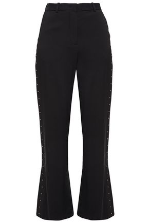 SEE BY CHLOÉ Studded crepe kick-flare pants