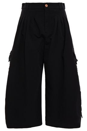 SEE BY CHLOÉ Cropped ruched cotton wide-leg pants
