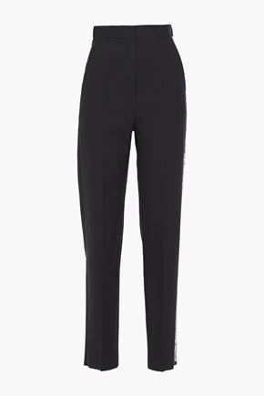 LANVIN Embellished woven tapered pants
