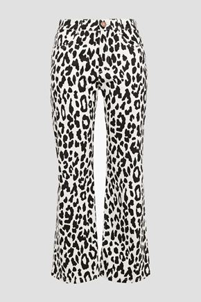 SEE BY CHLOÉ Leopard-print high-rise kick-flare jeans