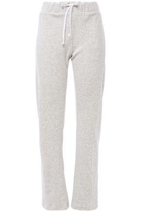 WILDFOX Mélange cotton-blend fleece track pants