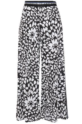 MISSONI Printed cotton-poplin culottes