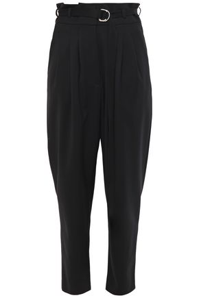 IRO Belted stretch-wool twill tapered pants