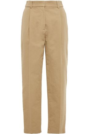 SEE BY CHLOÉ Cropped cotton tapered pants
