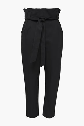 IRO Perplex cropped belted cady tapered pants