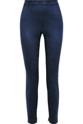 ELIE TAHARI Roxanna faux stretch-suede slim-leg pants