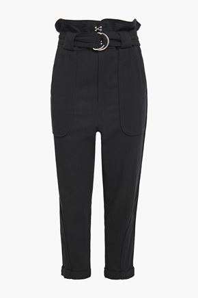IRO Harmony belted cotton-canvas tapered pants