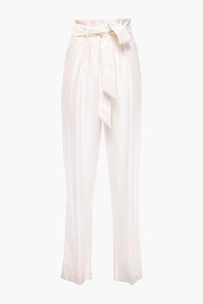 IRO Cinca herringbone satin-jacquard straight-leg pants