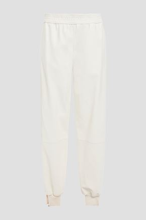 STELLA McCARTNEY Alicia zip-detailed faux leather track pants