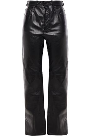 ACNE STUDIOS Leather straight-leg pants