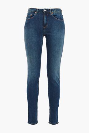 ACNE STUDIOS Skin 5 faded mid-rise skinny jeans