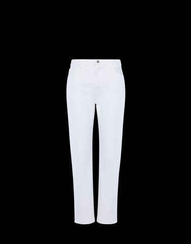 CASUAL PANTS White Skirts and Trousers Woman