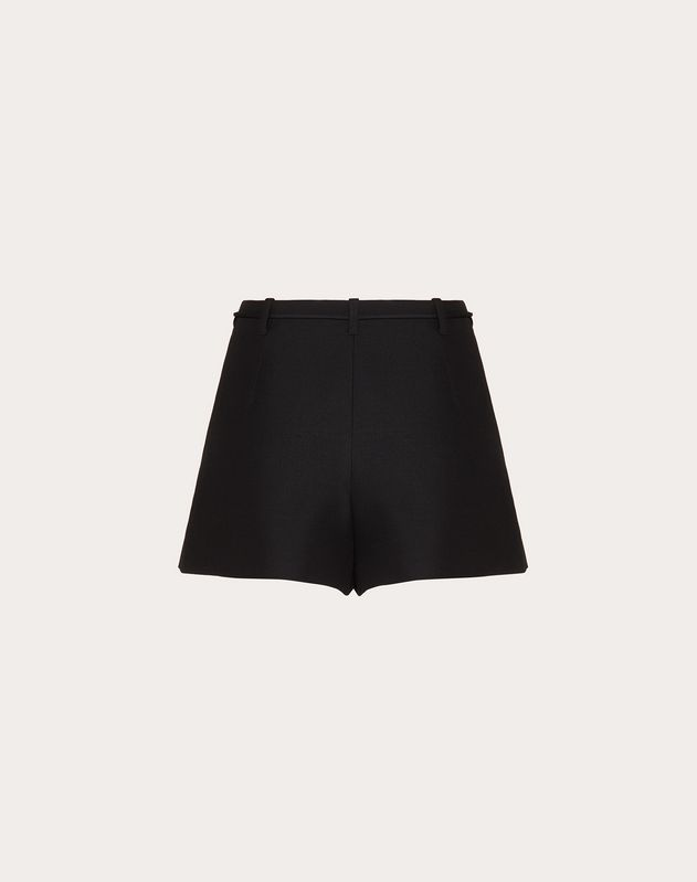 Crepe Couture Shorts with Feather Tassels