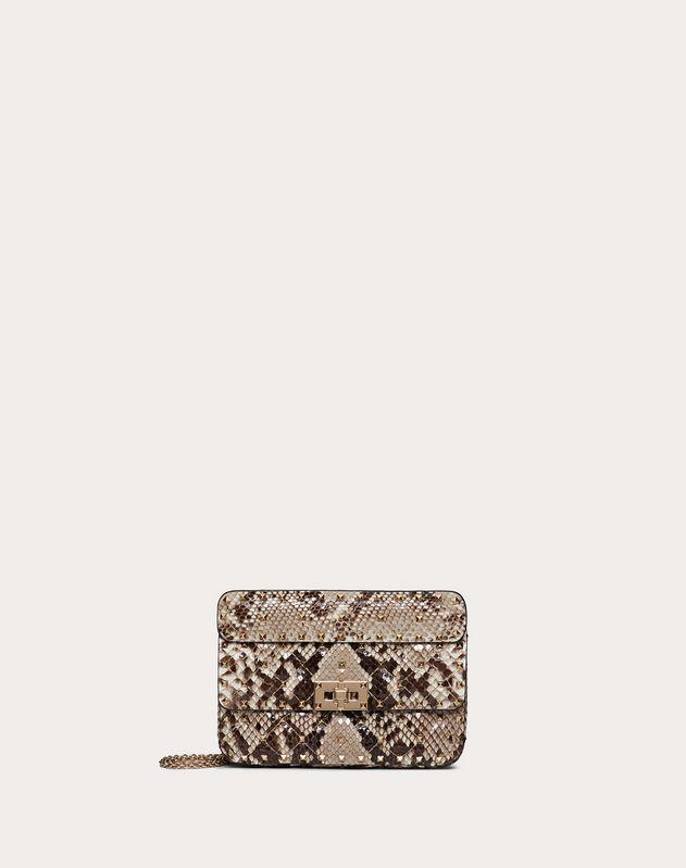 Small Rockstud Spike Python Skin Bag